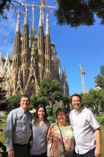Family on our Barcelona Walking Tour in English