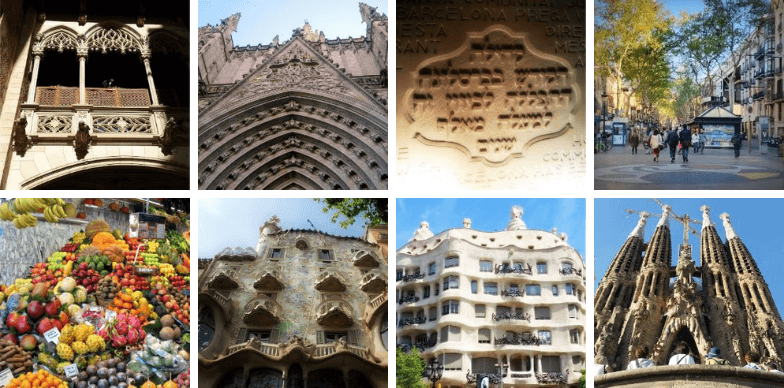 Sites included in our private walking tour in Barcelona