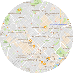 Barcelona full day tour (Walking Taxi) Map