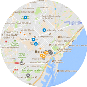 Best itineraries for 2 days in Barcelona Map