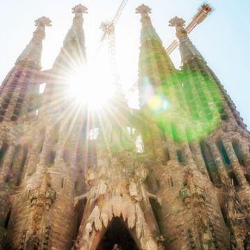 View of Sagrada Familia on tour