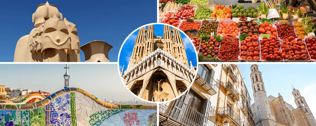 Sites visited in our 2 days tour in Barcelona Spain