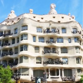 Outside view of La Pedrera