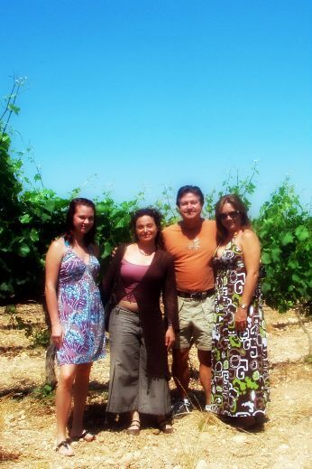 Family in our cava tours from Barcelona