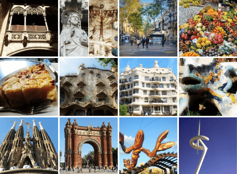 Highlights of our One Day Tour in Barcelona Spain