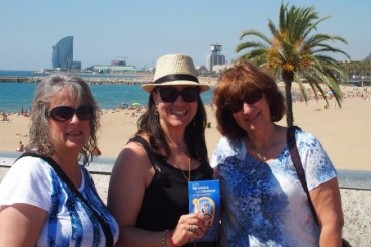 Ladies on a one day tour of Barcelona