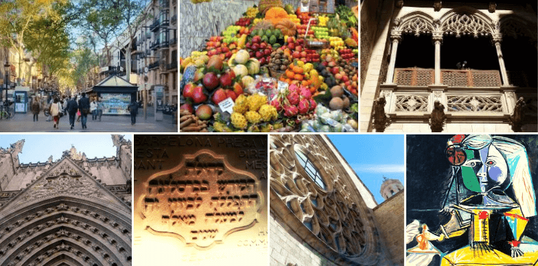 Highlights of our Picasso museum and Gothic Quarter walking tour in Barcelona