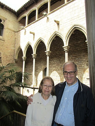 Couple at the Picasso Museum during our Barcelona Picasso Walking Tour
