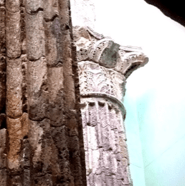 Barcelona Roman Temple Columns