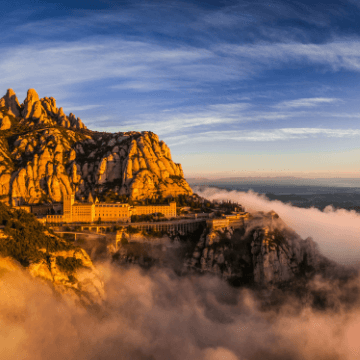 Moment in the best Montserrat tour from Barcelona: mountain view