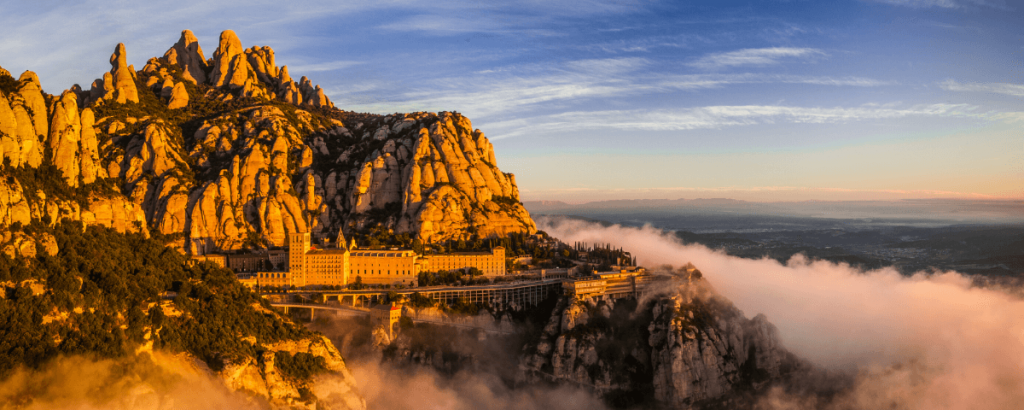 Moment in our private tour to Montserrat from Barcelona: Royal Basilica view