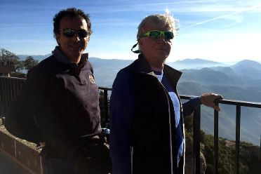 Guide and guest during our day trip from Barcelona to Montserrat (Spain)