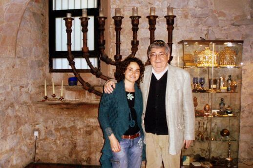 Marta with Miguel Yaffa, during a Jewish Barcelona Tour.