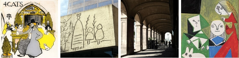 Highlights of our Picasso Walking tour of Barcelona, Spain