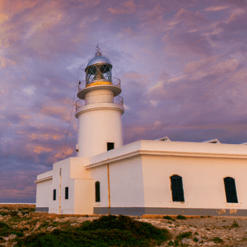 Famouse lighthouse in Menorca