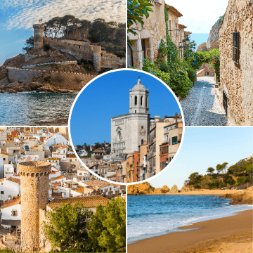 Sites included in our girona and costa brava tour from barcelona