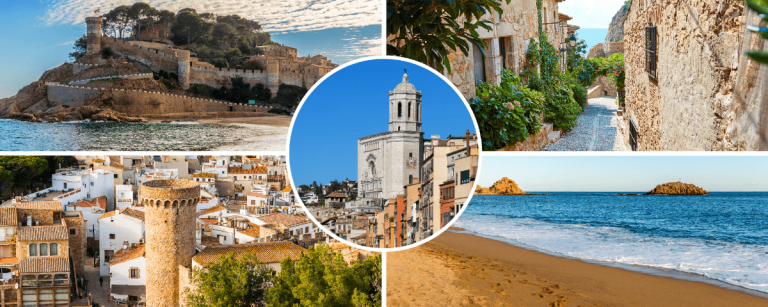 Sites visited in our private Girona and Costa Brava Tour