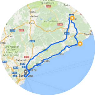 Girona Costa Brava Tour Map