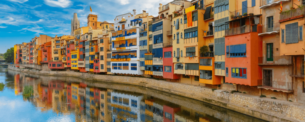 View of the Girona old quarters during our Girona tour from Barcelona
