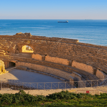 Roman amphitheater during our private Day Trip To Tarragona