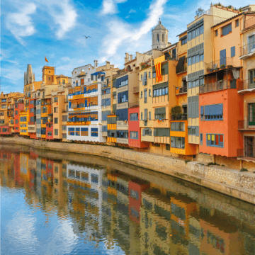 View of Girona during our Barcelona to Girona day trip