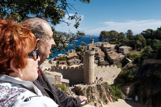 Senior couple during our Girona and Costa Brava full day tour from Barcelona