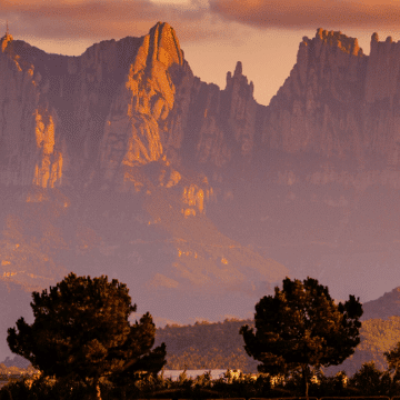 View of Montserrat, a great place for hikes
