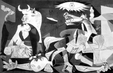 Close up of El Guernica by Picasso