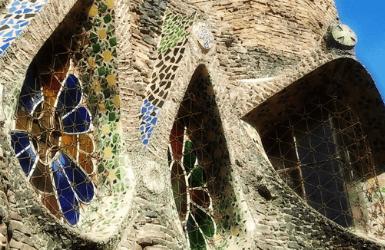 Detail of the Cripta Guell windows