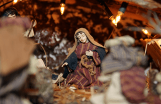 Family traditions on Christmas in Barcelona Spain: nativity