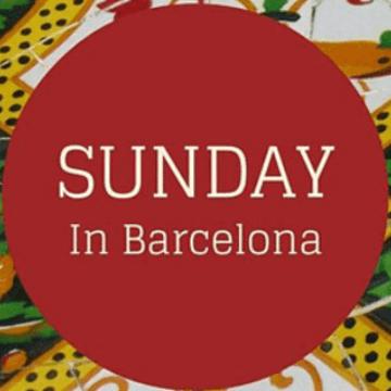 Sunday in Barcelona banner