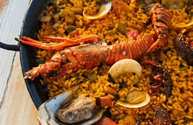 Best lobster paella in Barcelona