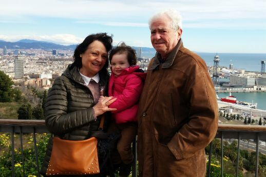 Grandparents and granchild during our 3 day tour of Barcelona