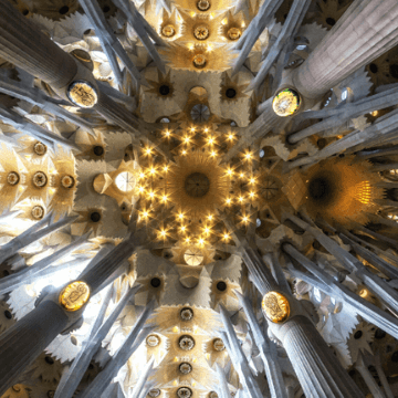 Geometry inside Sagrada Familia