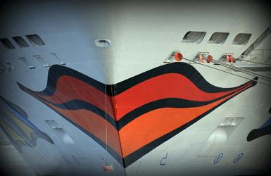 Barcelona cruise ship port: Aida ship