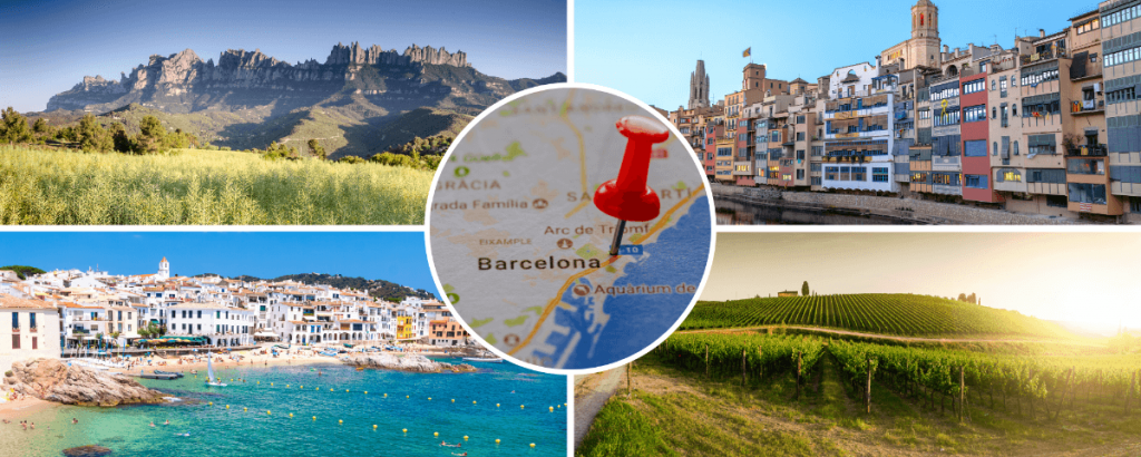 Destinations near Barcelona