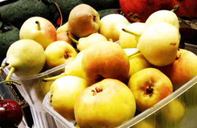 Pears, a fruit easy to find in Barcelona marketplaces
