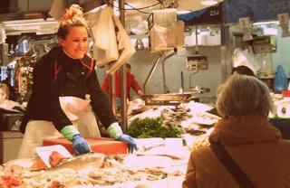 Fish stall at a Barcelona Market