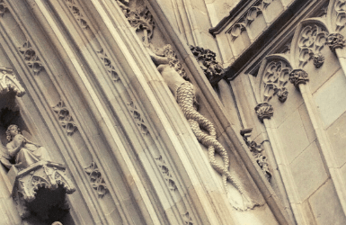 Mermaid of two tails in the Cathedral