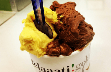 The best icream in Barcelona Spain