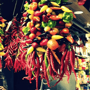 Chilies in one of the Barcelona Markets | ForeverBarcelona