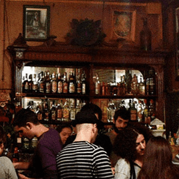 People in a Barcelona bar