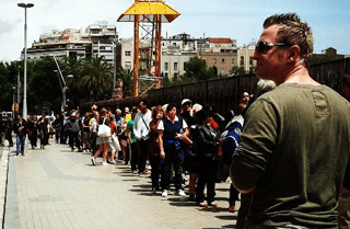 Long lines to enter Sagrada Familia in Barcelona