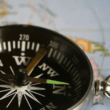 Compass and map, the ancient travel apps