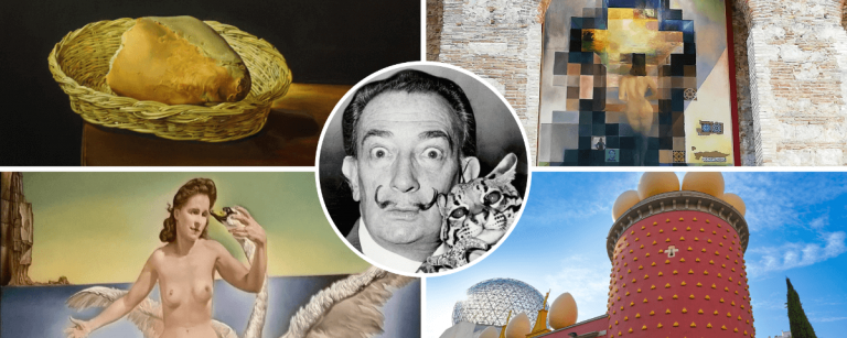 Salvador Dali, theater museum in Figueres and Dali paintings