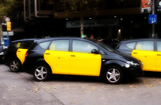 Taking Taxis in Barcelona