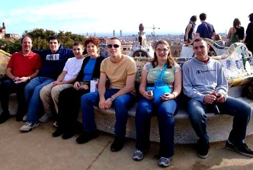 Family during our guided tour of sagrada familia and park güell with fast track access and Montjuic Hill