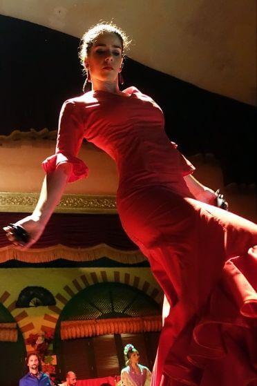 Dancer on our Barcelona gourmet tapas walking tour and flamenco show