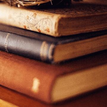 Pile of old Barcelona fiction novels