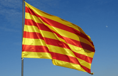 Catalan flag (red and yellow stripes)